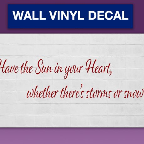 1 color WALL VINYL DECAL