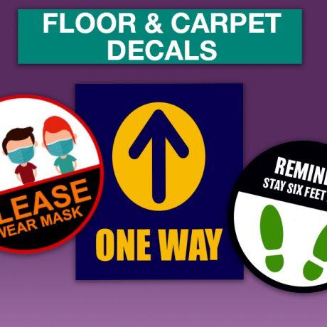 FLOOR AND CARPET DECALS