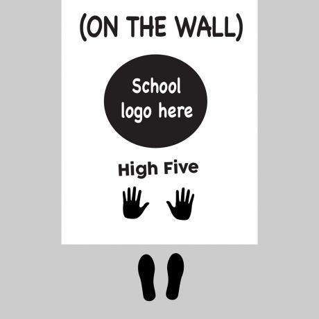 60046 School Logo High Five Sensory Floor Decals-01-01