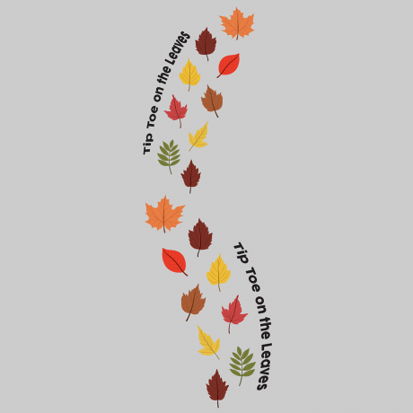 60052 Tip Toe on the Leaves Sensory Floor Decals-01