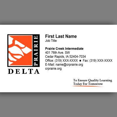 Prairie Delta Business Card