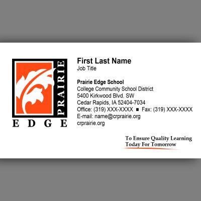 Prairie Edge Business Card