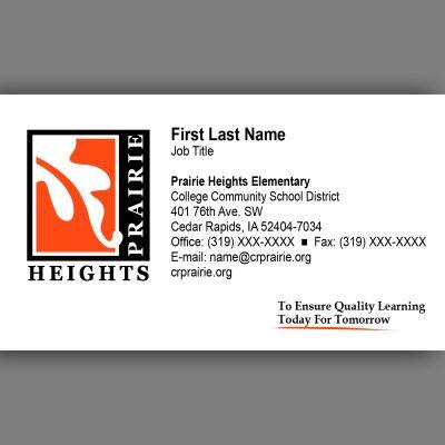 Prairie Heights Business Card