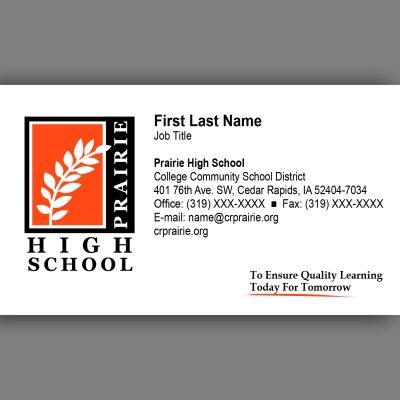 Prairie High Business Card