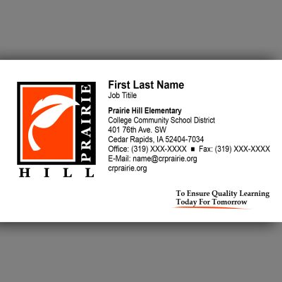 Prairie Hill Business Card