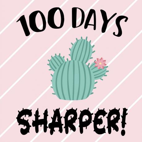 100 days sharper poster