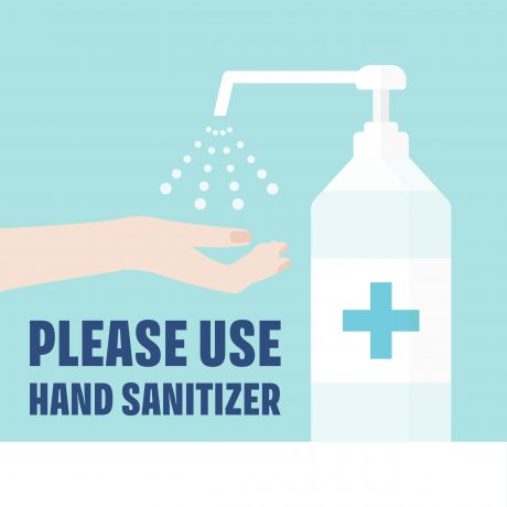 Hand Sanitizer Poster 23×23