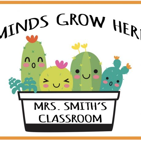 Personalized Mind's Grow Here Poster