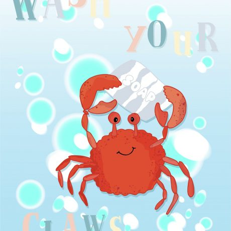 Wash Your Claws Poster 22×28